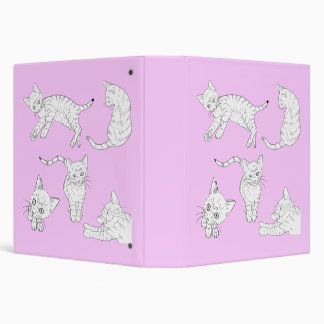 Cats 3 Ring Binder