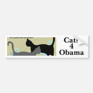 Cats 4 Obama bumpersticker Bumper Stickers