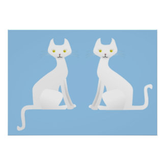 cats 50s retro style poster FROM 14.95