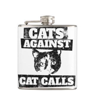 Cats against cat calls hip flasks