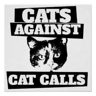 Cats against cat calls poster