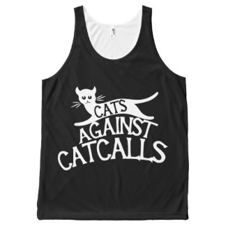 cats against catcalls All-Over-Print tank top