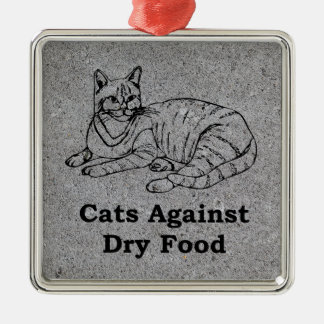 Cats Against Dry Food Metal Ornament