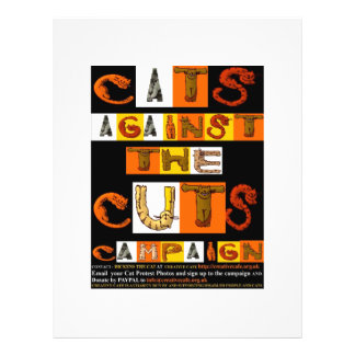 Cats against the Cuts Campaign Personalized Flyer