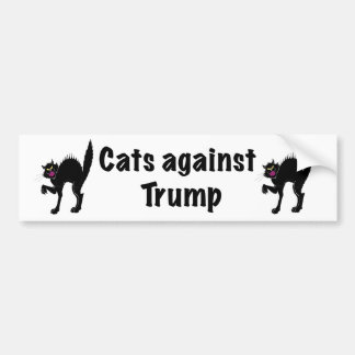 Cats against Trump Bumper Sticker