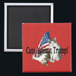 """Cats Against Trump"" Magnet<br><div class=""desc"">----- art & design by Dorian</div>"