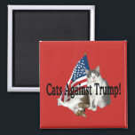 """Cats Against Trump"" Magnet<br><div class=""desc"">----- art & design by Dorian</div>"