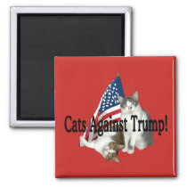 """Cats Against Trump"" Magnet"