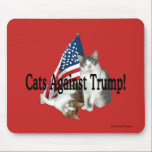 "&quot;Cats Against Trump&quot; Mousepad<br><div class=""desc"">----- art &amp; design by Dorian</div>"