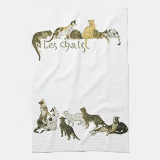 Cats, Alexandre Steinlen Towels
