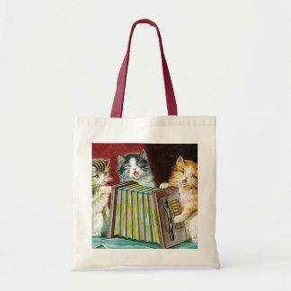 """Cats and a Squeezebox"" Tote Bag"