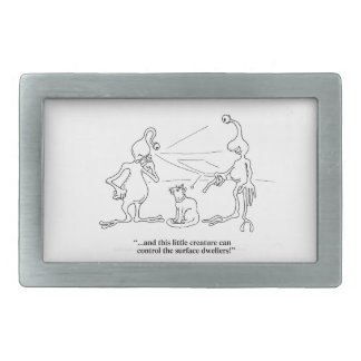 Cats and Aliens Rectangular Belt Buckle