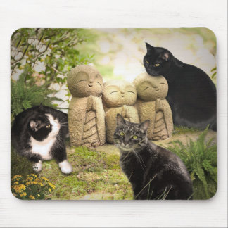 Cats and Angels Mouse Pad