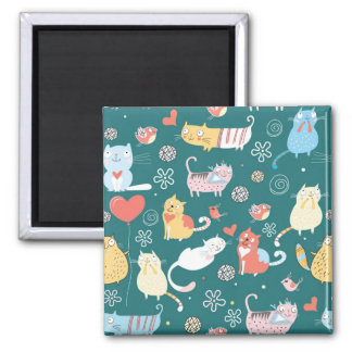 Cats and Birds Magnet