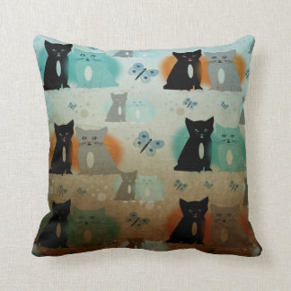 cats and butterflies pillows