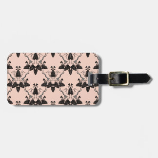 Cats and Catnip Damask Look Pattern Bag Tag