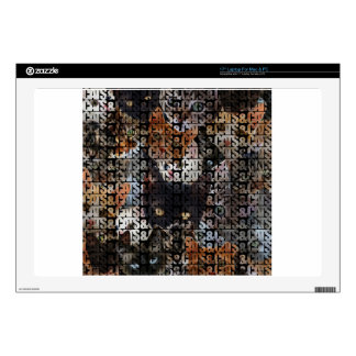 """Cats and Cats and 17"""" Laptop Skins"""