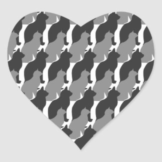 Cats and Cats and Cats Heart Sticker