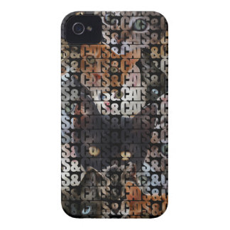 Cats and Cats and iPhone 4 Case-Mate Cases