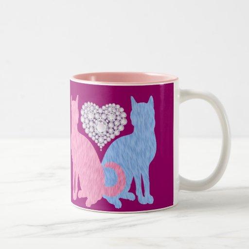 cats and diamonds mug