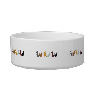 Cats and Dogs cartoon pattern Bowl
