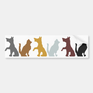 Cats and Dogs cartoon pattern Bumper Sticker