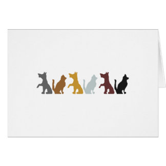Cats and Dogs cartoon pattern Card