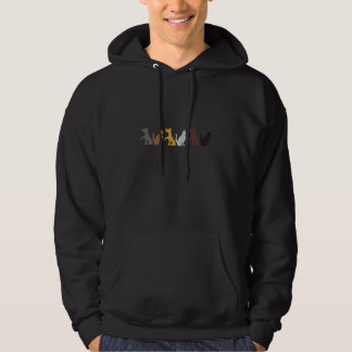 Cats and Dogs cartoon pattern Hoodie