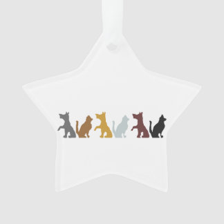 Cats and Dogs cartoon pattern Ornament