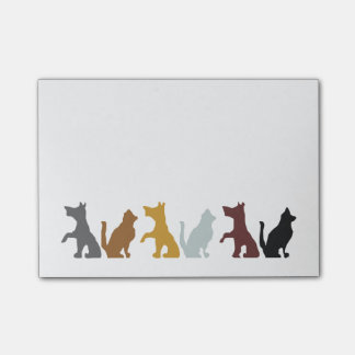 Cats and Dogs cartoon pattern Post-it Notes