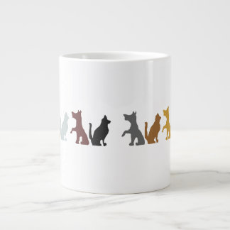 Cats and Dogs cartoon pattern Extra Large Mugs