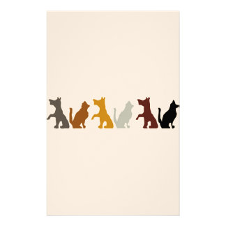 Cats and Dogs cartoon pattern Stationery Paper