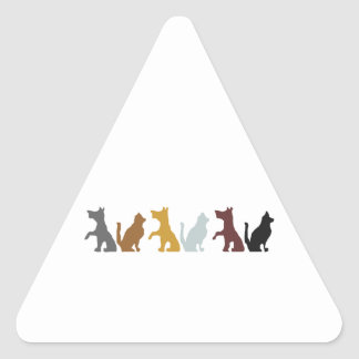 Cats and Dogs cartoon pattern Stickers