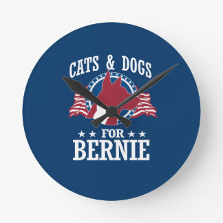 CATS AND DOGS FOR BERNIE SANDERS ROUND CLOCK