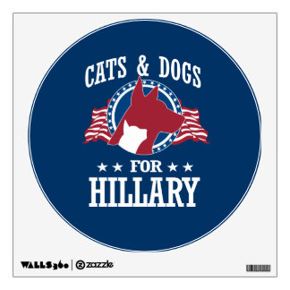 CATS AND DOGS FOR HILLARY WALL DECAL