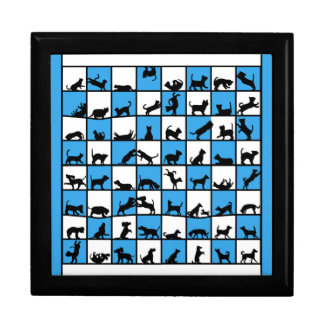 cats- and dogscube blue white gift boxes