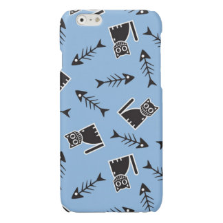 Cats and Fish Bones Glossy iPhone 6 Case