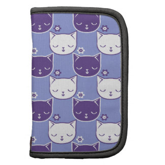 Cats and Flowers - purple Organizer