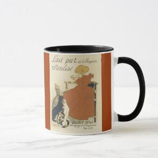 Cats and girl (French) coffee mug