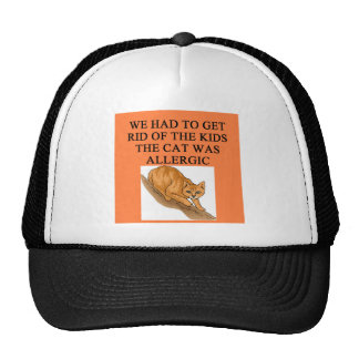 cats and kids trucker hat
