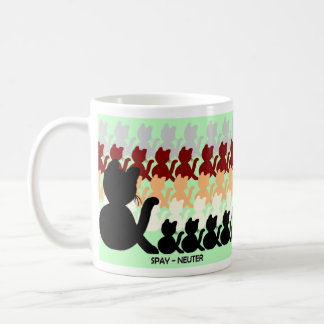 Cats and kittens spay-neuter pet responsibility coffee mug