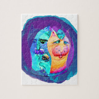 Cats and Mice Colorful Cat Design Puzzle