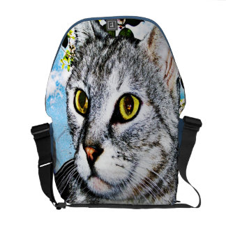 "Cats and Nature ""In Full Bloom"" Messenger Bag"