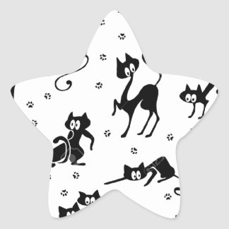 cats and paws gatose footprints star sticker