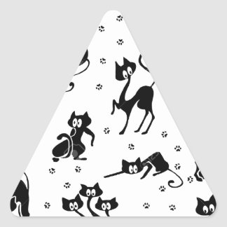 cats and paws gatose footprints triangle sticker