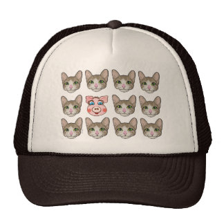 Cats and Piggy Trucker Hat