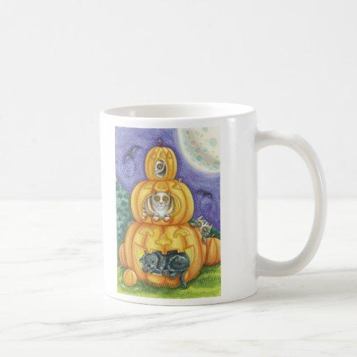 Cats and Pumpkins Halloween Mug