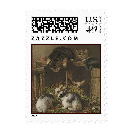 Cats and Rabbits Postage