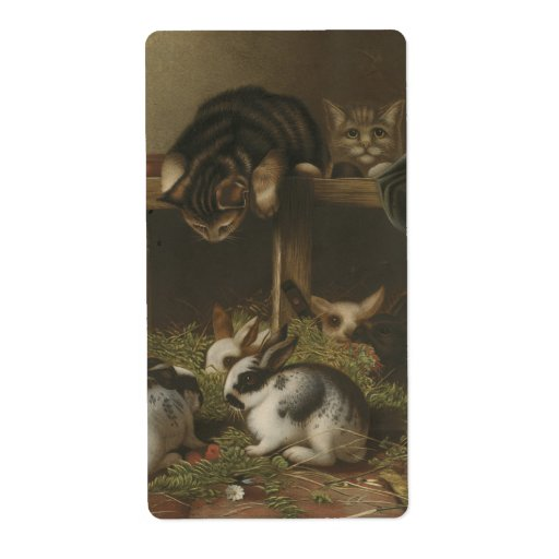 Cats and Rabbits Shipping Label