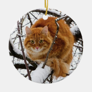 cats_and_snow_ 14 christmas tree ornament